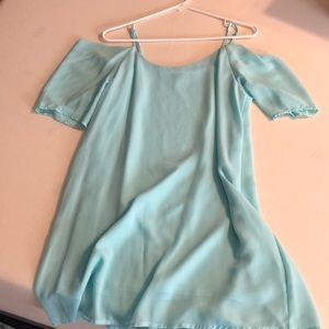 Dresses - Light Aqua Dress